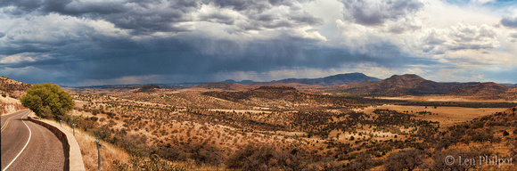 Weather over the Davis Mountains panorama